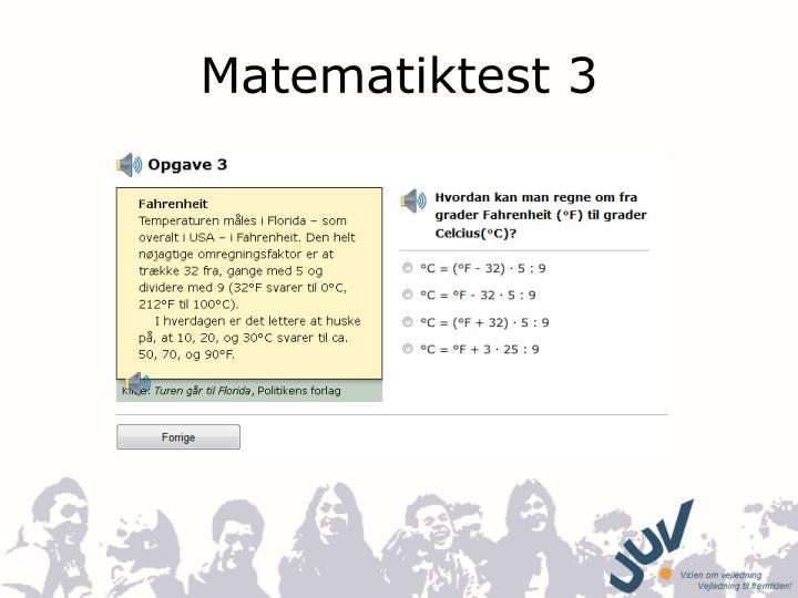 Matematiktest 3