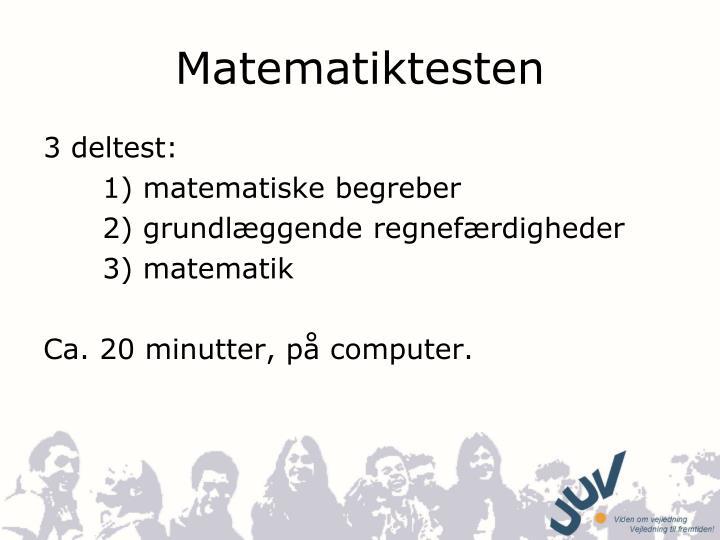 Matematiktesten