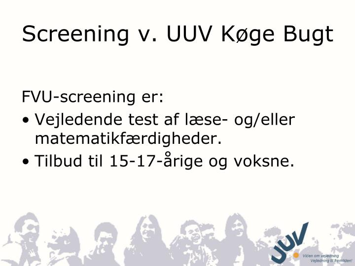 screening v uuv k ge bugt