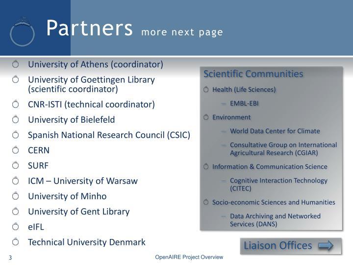 University of Athens (coordinator)