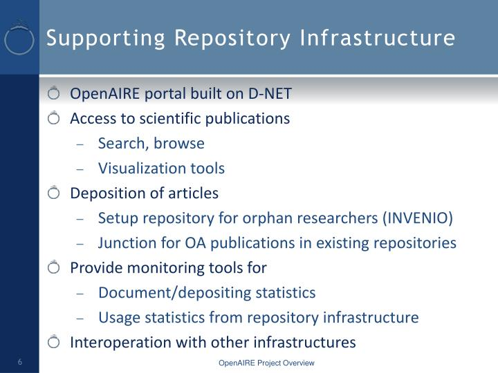 Supporting Repository Infrastructure