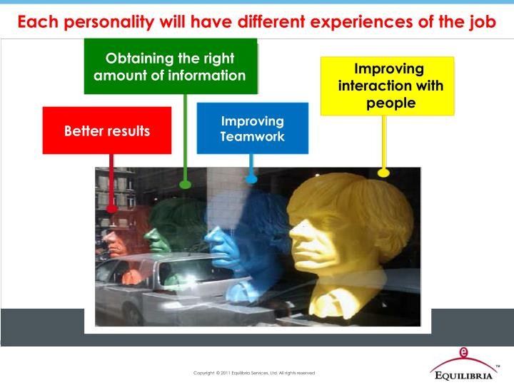 Each personality will have different experiences of the job