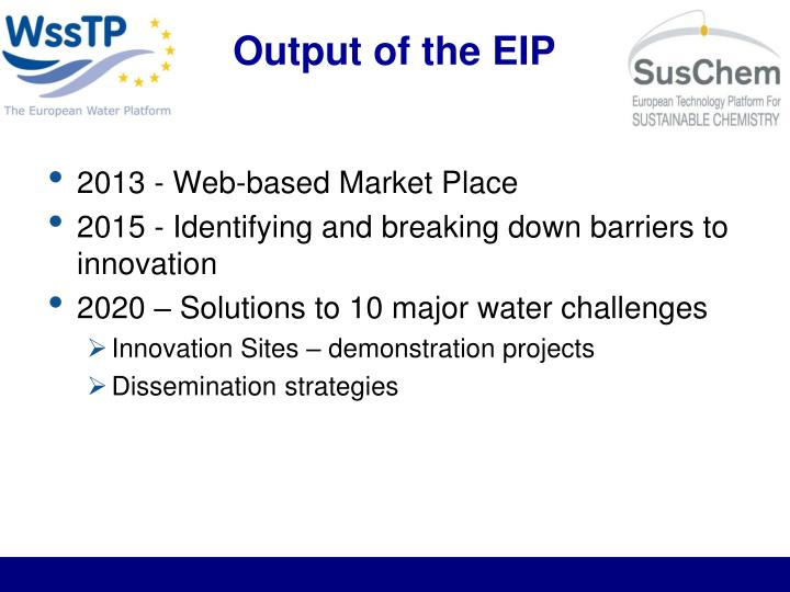 Output of the EIP
