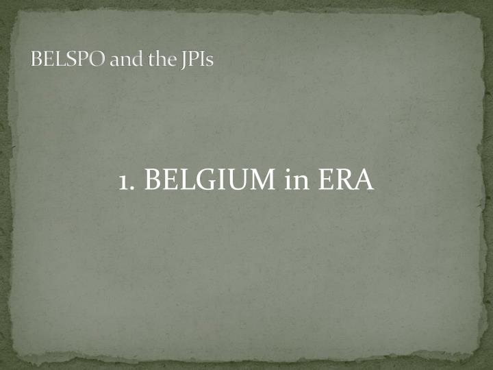 Belspo and the jpis2