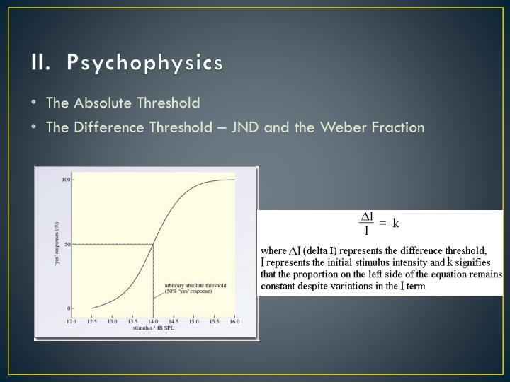 II.  Psychophysics