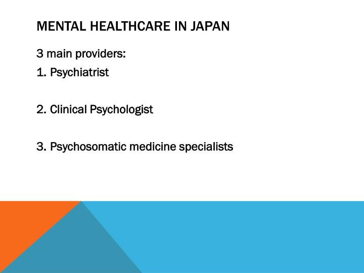 Mental healthcare in japan