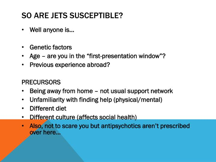 So are jets susceptible?