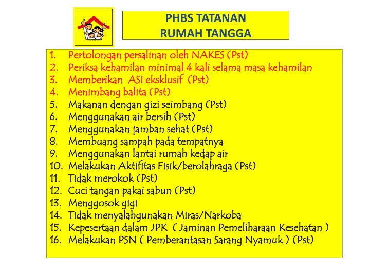 PHBS TATANAN