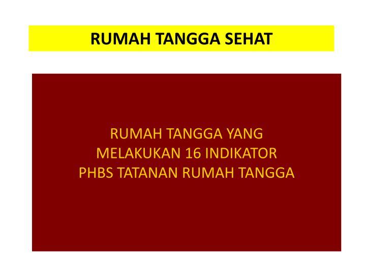RUMAH TANGGA SEHAT