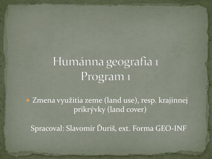 Hum nna geografia 1 program 1