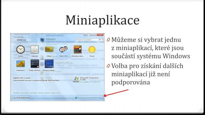 Miniaplikace