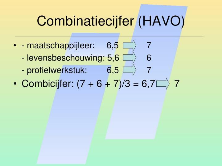 Combinatiecijfer (HAVO)
