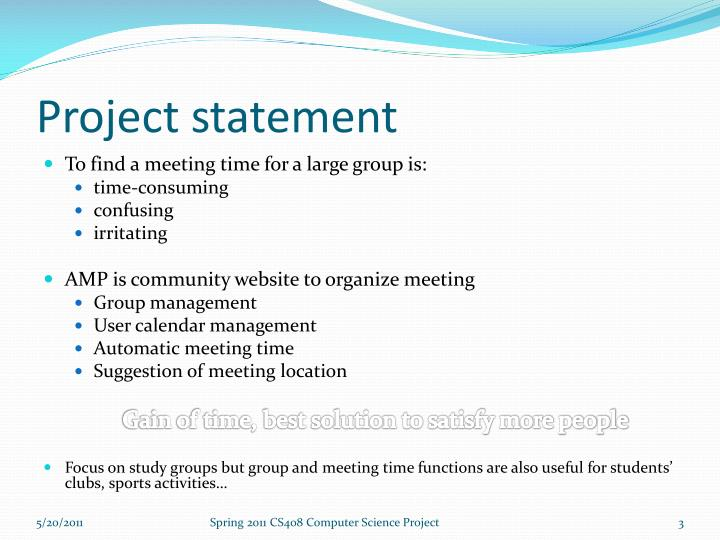 Project statement
