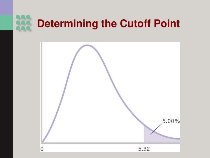 Determining the Cutoff Point