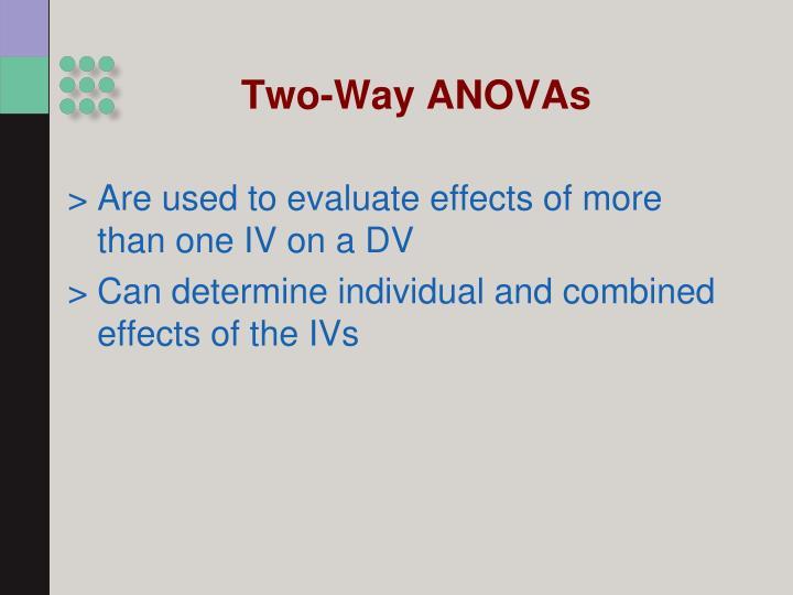 Two-Way ANOVAs