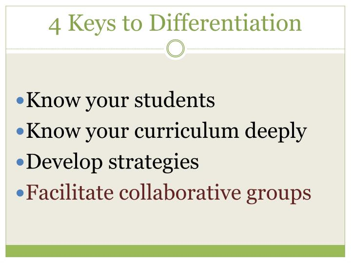 4 keys to differentiation