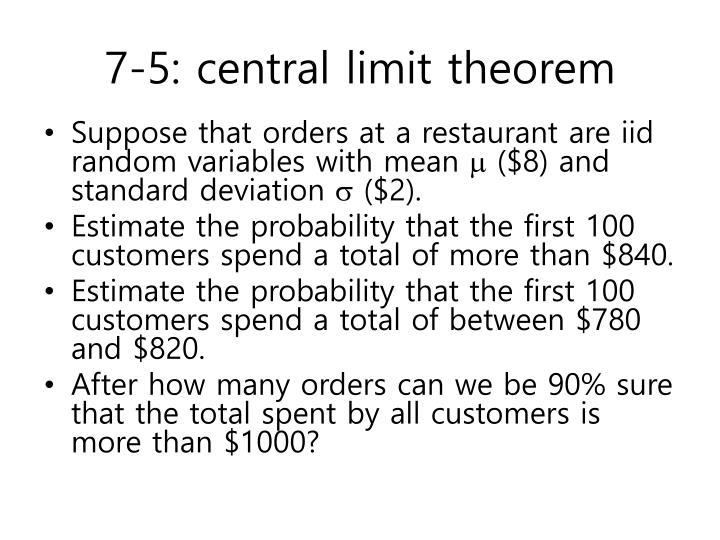 7-5: central limit theorem