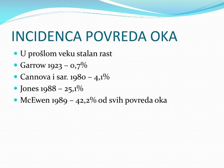 INCIDENCA POVREDA OKA