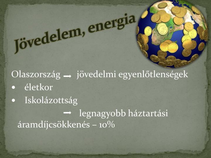 Jövedelem, energia