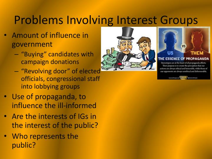 Problems Involving Interest Groups