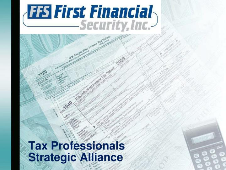 Tax professionals strategic alliance
