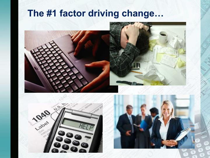The 1 factor driving change