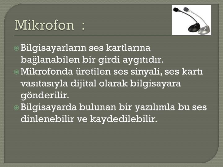 Mikrofon  :