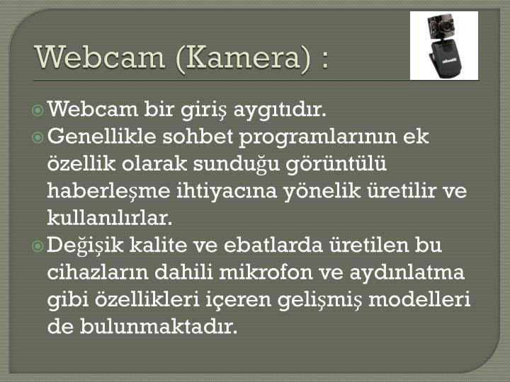 Webcam (Kamera) :