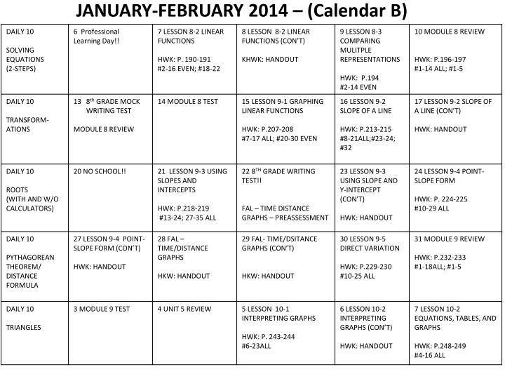 JANUARY-FEBRUARY 2014