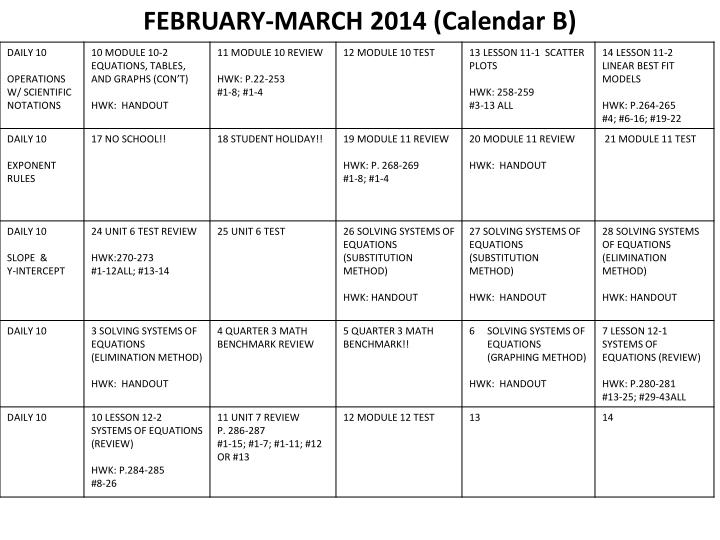 FEBRUARY-MARCH 2014