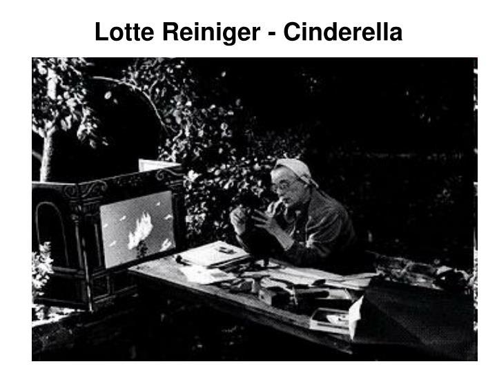 Lotte Reiniger - Cinderella