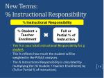 new terms instructional responsibility