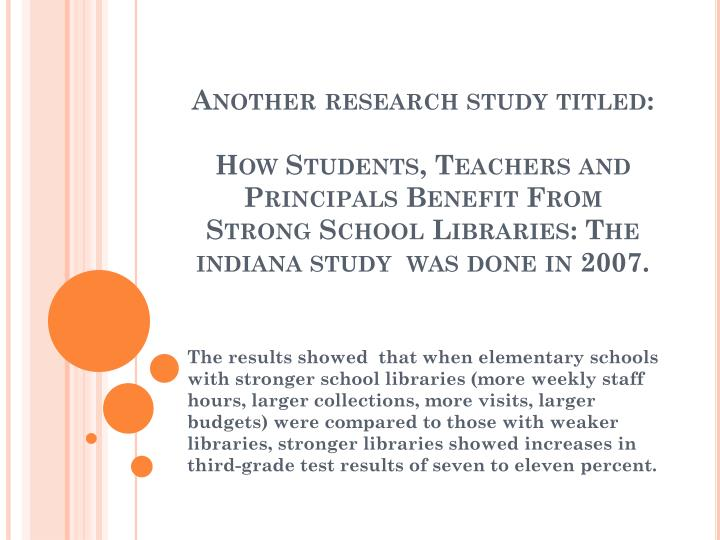 Another research study titled: