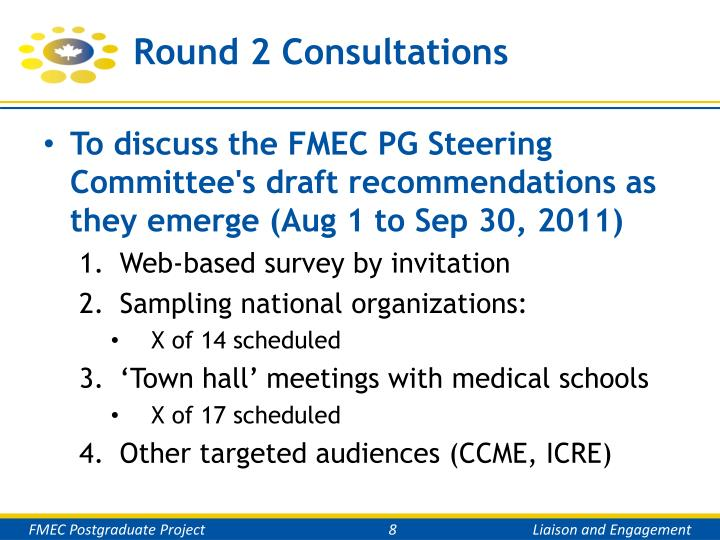 Round 2 Consultations