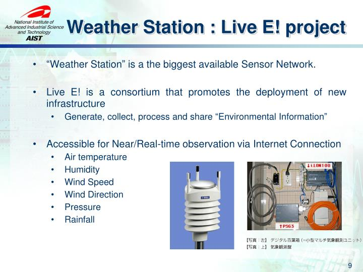 Weather Station : Live E! project