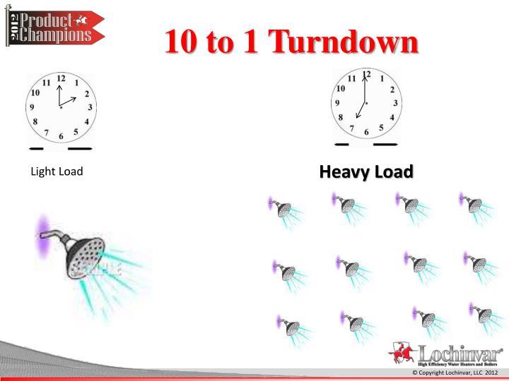 10 to 1 Turndown