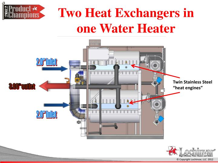 Two Heat Exchangers in one Water Heater