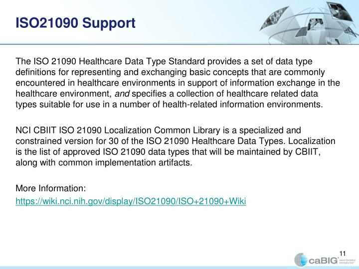 ISO21090 Support