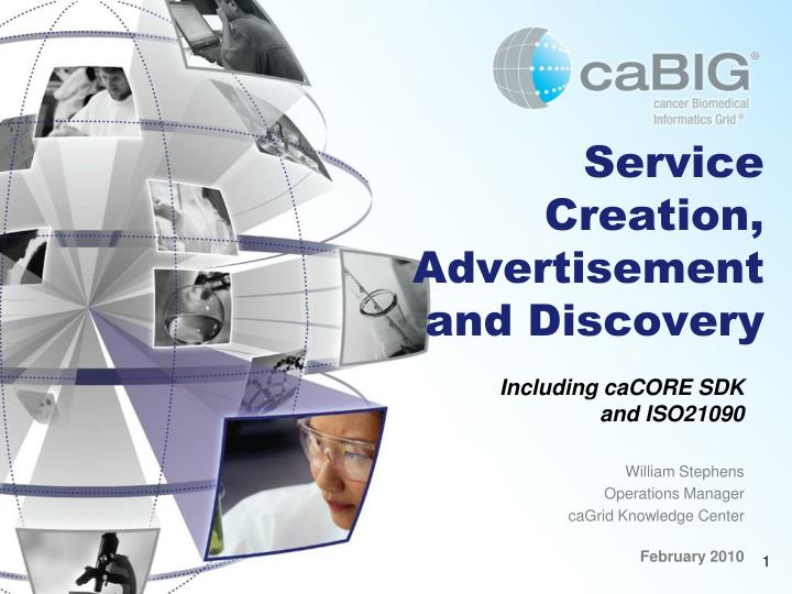 Service creation advertisement and discovery