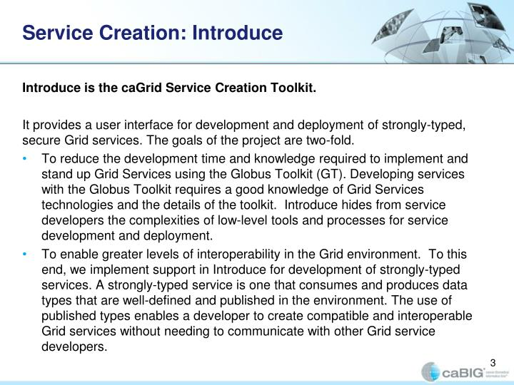 Service Creation: Introduce