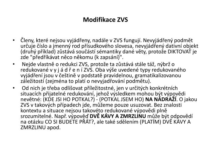 Modifikace ZVS