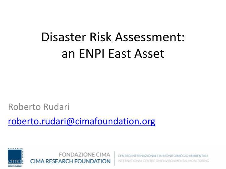 Disaster Risk Assessment: