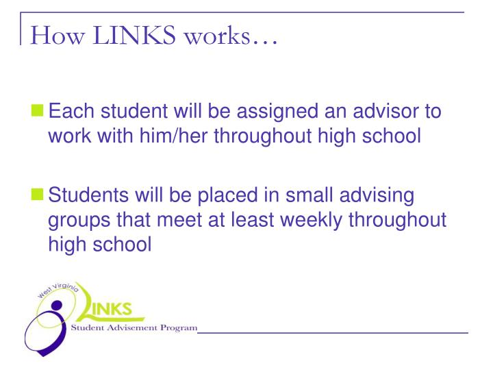 How LINKS works…