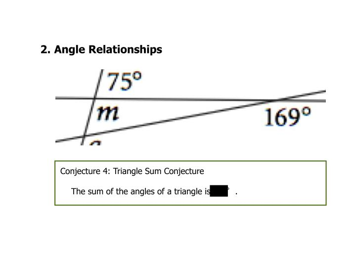 Conjecture 4: Triangle Sum Conjecture