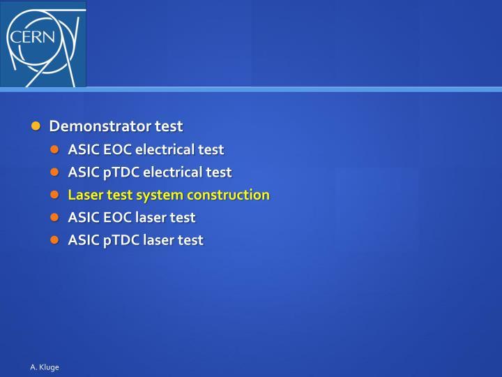Demonstrator test