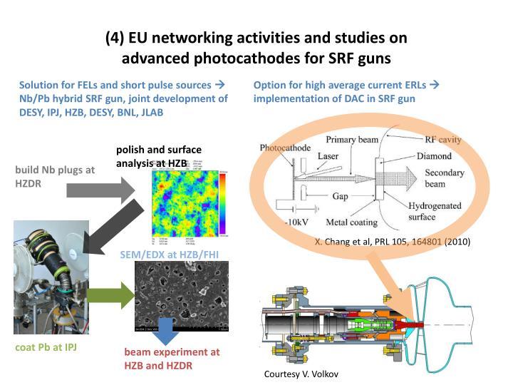 (4) EU networking activities and studies on