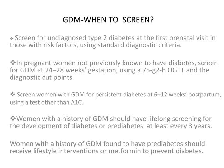 GDM-WHEN TO  SCREEN?