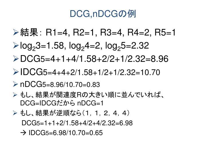 DCG,nDCG