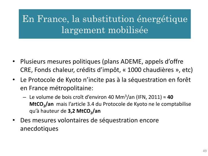 En France, la substitution énergétique largement mobilisée