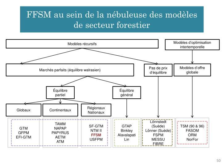 FFSM au sein de la nébuleuse des modèles de secteur forestier